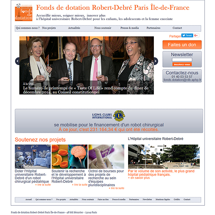Fonds de dotation Robert-Debré